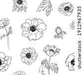 pattern flowers vector line...   Shutterstock .eps vector #1912967935
