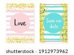 gold chic banner. mint print.... | Shutterstock .eps vector #1912973962