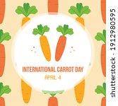international carrot day vector ... | Shutterstock .eps vector #1912980595