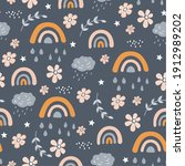 Seamless Pattern With Owl ...