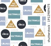seamless pattern with basic... | Shutterstock .eps vector #1912989475