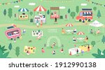summer fair festival food ... | Shutterstock .eps vector #1912990138