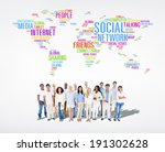 social networking | Shutterstock . vector #191302628