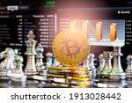 modern way of exchange. bitcoin ... | Shutterstock . vector #1913028442