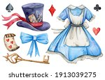 Watercolor Hand Painted Alice...