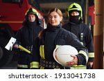 Group Of Firefighters In...