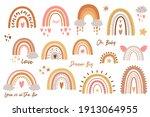 baby rainbow set. rainbow kids... | Shutterstock . vector #1913064955