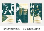 geometric modern art. minimal... | Shutterstock .eps vector #1913066845