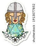 grunge sticker of a crying... | Shutterstock .eps vector #1913077852