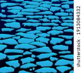 ice drift on the river. vector...   Shutterstock .eps vector #1913084332