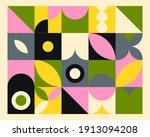 abstract geometric mural... | Shutterstock .eps vector #1913094208