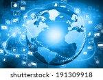 digital illustration  of globe... | Shutterstock . vector #191309918