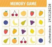 memory game for children....   Shutterstock .eps vector #1913128228