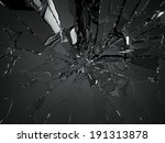 many pieces of shattered glass... | Shutterstock . vector #191313878