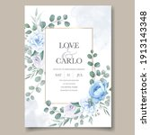 beautiful hand drawing wedding...   Shutterstock .eps vector #1913143348