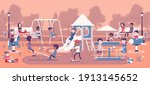happy kids playing in...   Shutterstock .eps vector #1913145652