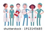 female medical professional ... | Shutterstock .eps vector #1913145685