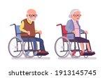 old people  elderly man  woman...   Shutterstock .eps vector #1913145745