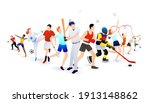 vector illustration of sports... | Shutterstock .eps vector #1913148862