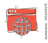website domain icon in comic... | Shutterstock .eps vector #1913154175