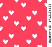 seamless heart pattern hand... | Shutterstock .eps vector #1913156638