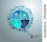 creative speech bubble of... | Shutterstock .eps vector #191316056