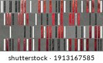 Red And Grey Abstract Art 3d...