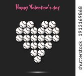 happy valentines day. baseball... | Shutterstock .eps vector #1913169868