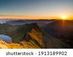 Helvellyn Striding Edge Sunrise ...