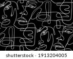 abstract one line seamless... | Shutterstock .eps vector #1913204005