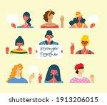 diverse international and... | Shutterstock .eps vector #1913206015