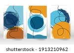 modern abstract painting. set... | Shutterstock .eps vector #1913210962