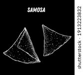 samosa sketch  indian food.... | Shutterstock .eps vector #1913223832