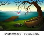illustration of a boat under... | Shutterstock .eps vector #191323202