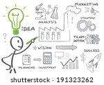 man drawing business doodle.... | Shutterstock . vector #191323262