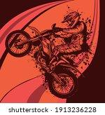 abstract motocross biker...   Shutterstock .eps vector #1913236228