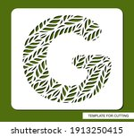 stencil with the letter g made... | Shutterstock .eps vector #1913250415