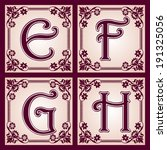 vector set of letters in the... | Shutterstock .eps vector #191325056