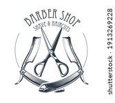 vintage barbershop or... | Shutterstock .eps vector #1913269228