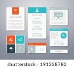 flat ui business elements...