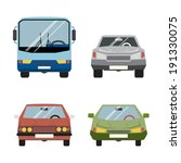 retro flat car icons set vector ... | Shutterstock .eps vector #191330075