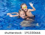 brother and sister playing in... | Shutterstock . vector #191330666