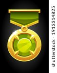 vector gold round medal with a...