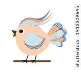 vector color image of a bird ...   Shutterstock .eps vector #1913329645