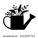 vector cute watering can... | Shutterstock .eps vector #1913337715