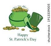 saint patrick's day composition.... | Shutterstock .eps vector #1913339005