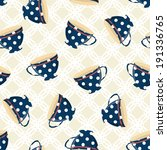 dots tea cups seamless pattern... | Shutterstock .eps vector #191336765
