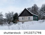 Small Home And Snowy Frozen...