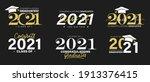 class of 2021 vector badges set.... | Shutterstock .eps vector #1913376415