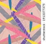 abstract vector seamless... | Shutterstock .eps vector #1913377375